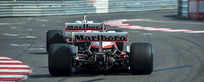 McLaren F1 battle at 2012 Monaco Historics