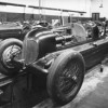 The Scuderia Ferrari workshop in Modena with the two bimotore being worked on