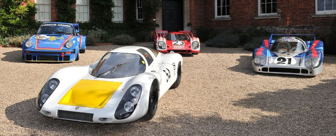 Porsche 907, 917s and 934 at Porsche Classics at the Castle 2012