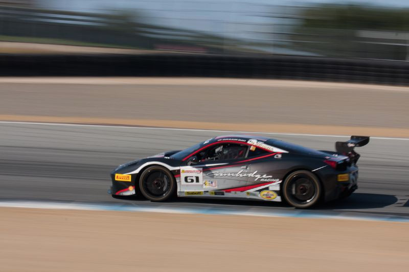 The Cambridge Racing #61 Ferrari 458 EVO, driven by Jean-Claude Saada