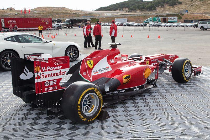 Formula 1 Ferrari F138 on display at Laguna Seca.