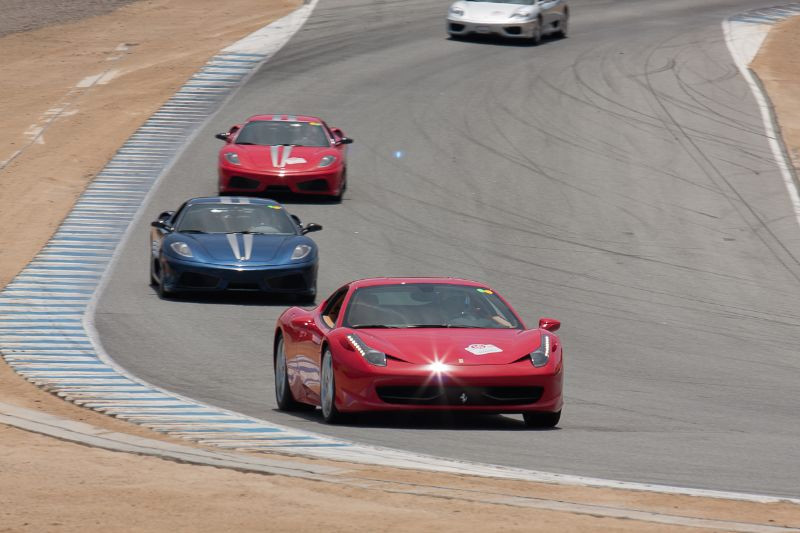 Ferrari owners were given the opportuity to take their Maranello steeds onto the race track