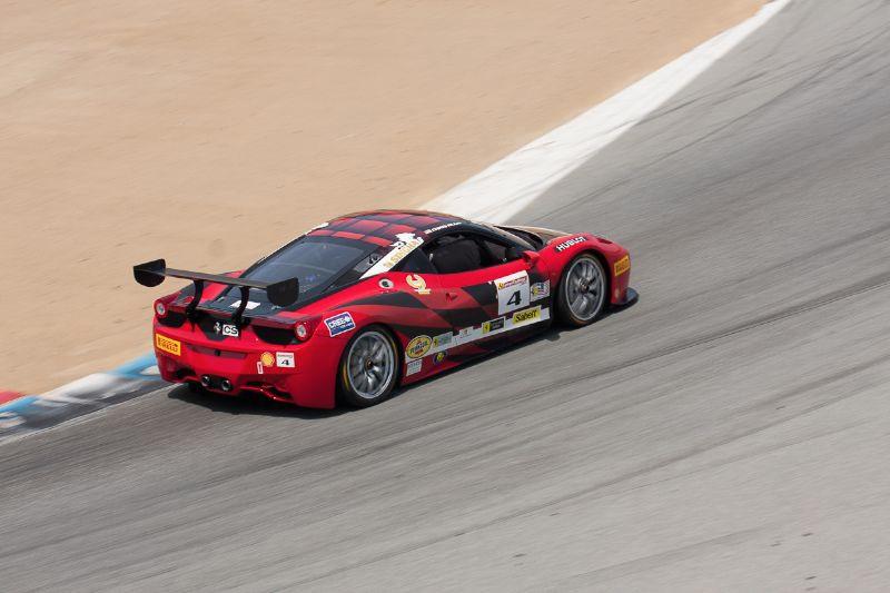 Chris Rudd exits turn 6 in his #4 Ferrari 458 EVO