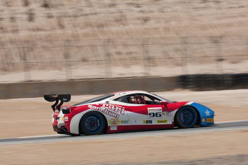 Victor Gomez in the #96 Ferrari 458 EVO