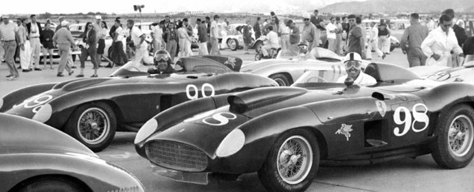 Carroll Shelby, John Edgar Ferrari 410S, Palm Springs, 1956