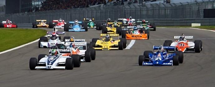 Start of Grand Prix Masters race at Oldtimer Grand Prix 2011