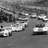 Le Mans 1976 No. 20 (overall winner), driver Jacky Ickx and Gijs van Lennep. # 40: Rolf Stommelen and Manfred Schurti on Porsche Type 935 (4th place overall)