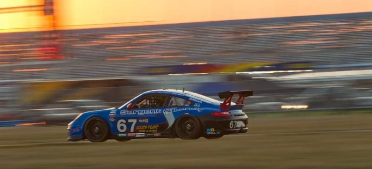 Class Winning TRG Porsche 911 GT3 at Rolex 24 at Daytona 2011