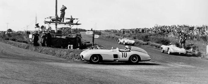 Stirling Moss, 1955 Tourist Trophy Dundrod, Mercedes-Benz 300SLR