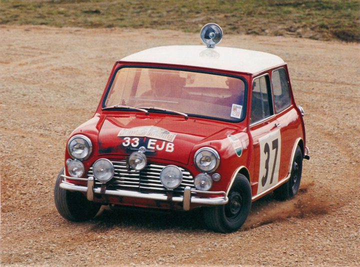 Mini Cooper At Rallye Monte Carlo