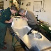 Lotus T79/1's fuel cell area is examined