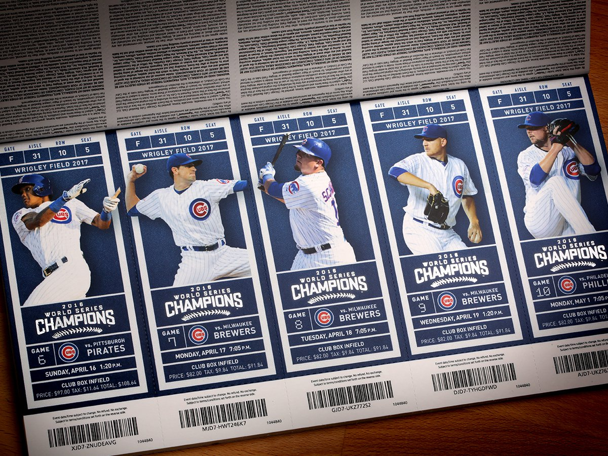 Cubs Ticket Boxes 2017 - Tickets