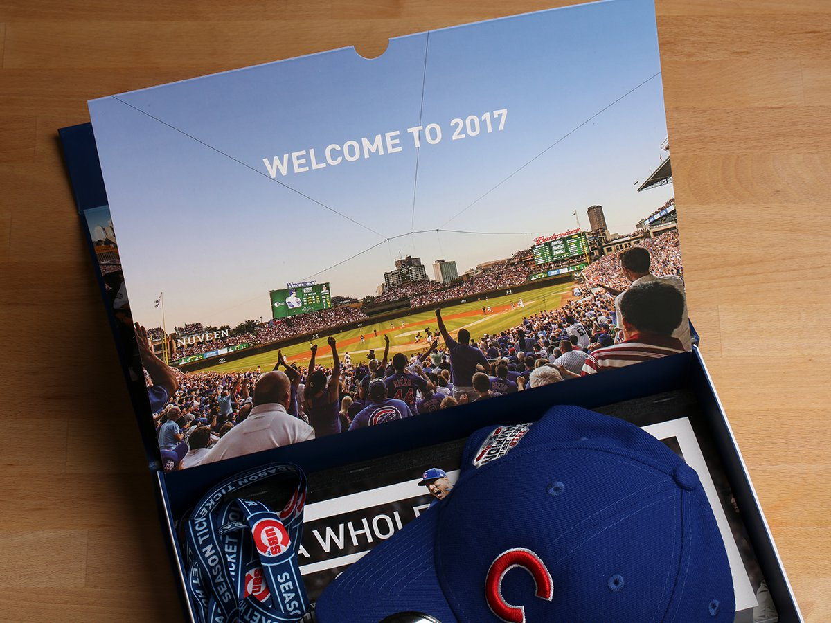 Cubs Ticket Boxes 2017 - inside top flap