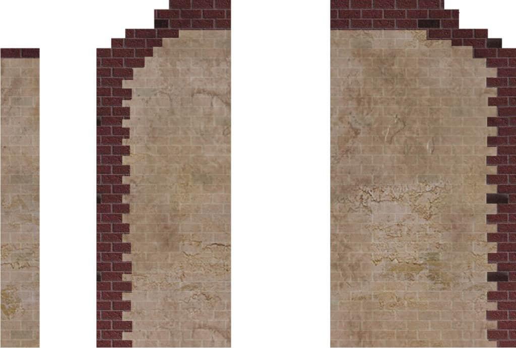 Walls: Cratchit Wagon & Fireplace