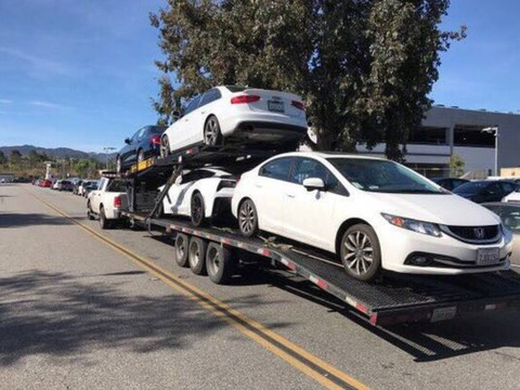 2016 Kaufman 47 ft. Double Deck EZ 4 car Hauler Trailer