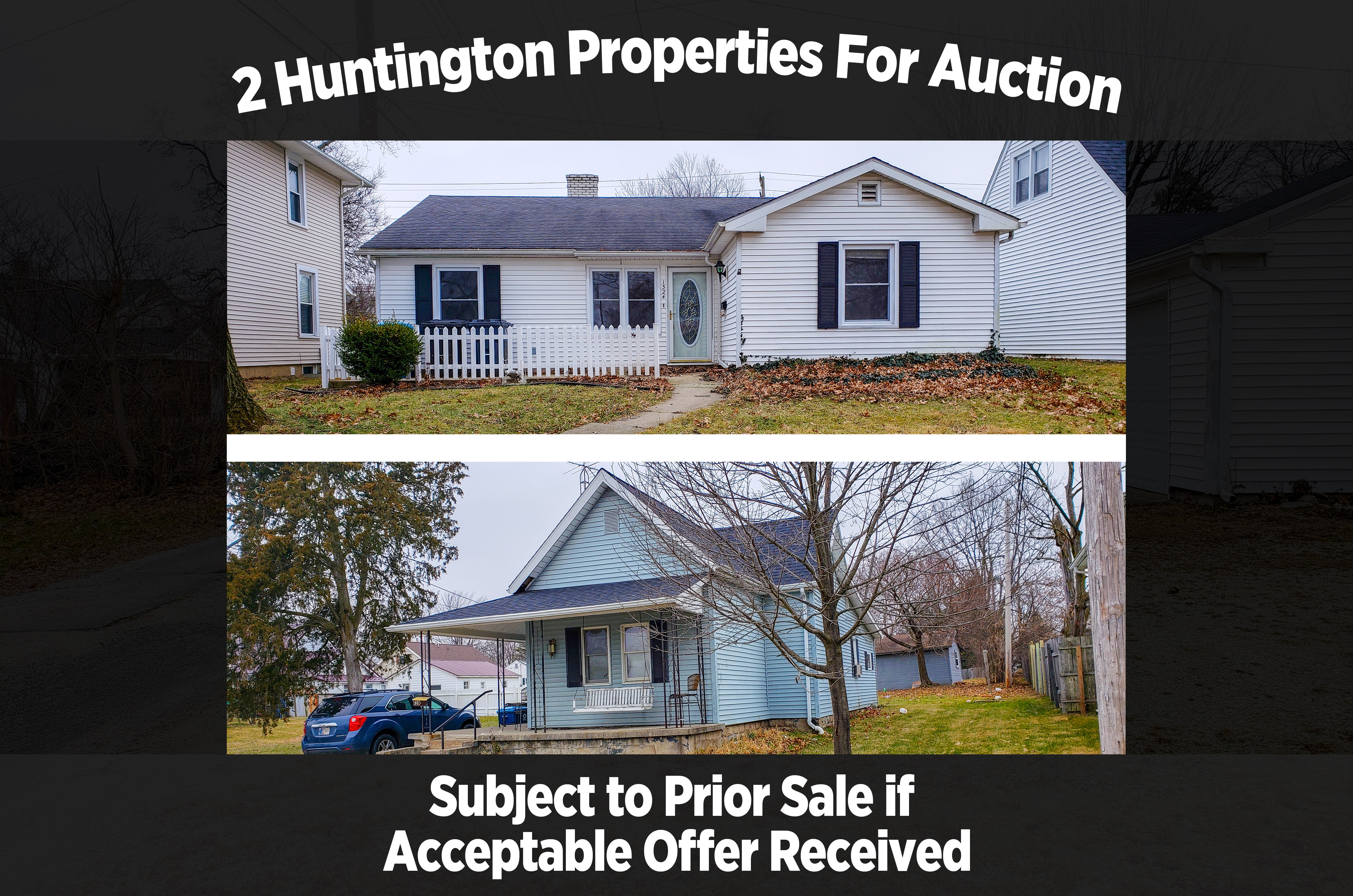 2 Huntington Properties For Auction Scheerer Mcculloch Indiana