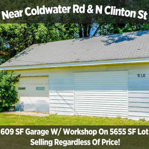 609 Sf Garage W/ Workshop On 5655 Sf Lot & Personal Property