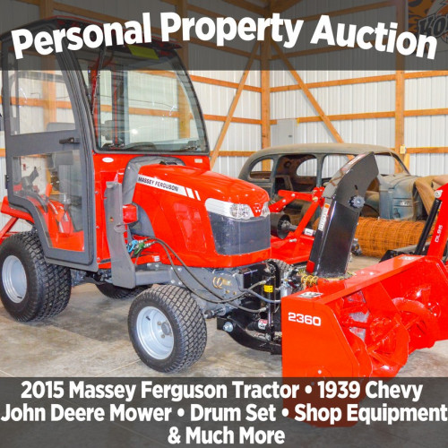 PERSONAL PROPERTY AUCTION - OWNER RELOCATING!
