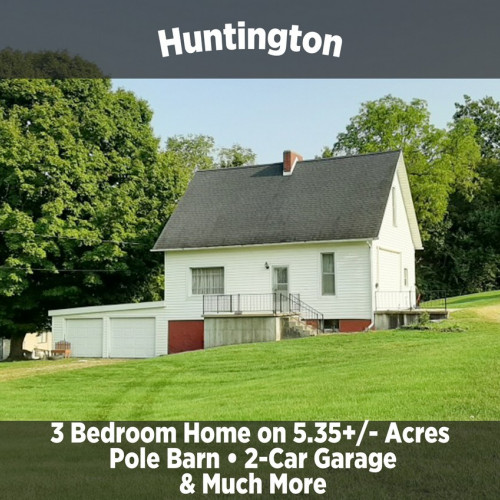 3 Bedroom Home on 5.35 Acres in Huntington