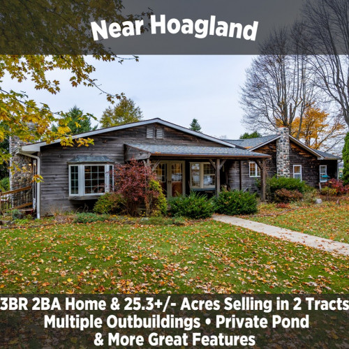 Rustic 3 Bedroom 2 Bathroom Home & 25.3+/- Acres Selling in 2 Tracts