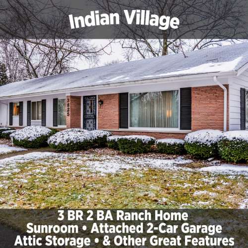 3 Bedroom 2 Bathroom Ranch Home in Indian Village **PERSONAL PROPERTY SELLS AT A LATER DATE**​​​​​​​