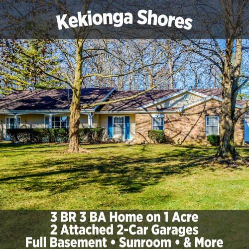3 Bedroom 3 Bathroom Home on 1 Acre in Kekionga Shores