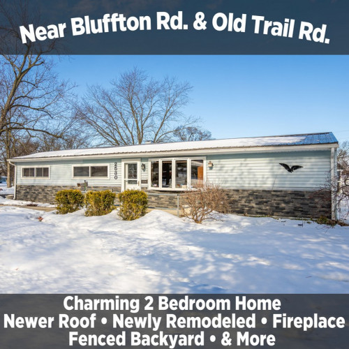 Charming 2 Bedroom Home Near Bluffton Rd & Old Trail Rd.