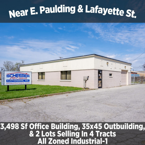 3,498 Sf Office Building, 35x45 Outbuilding, & 2 Lots Selling In 4 Tracts