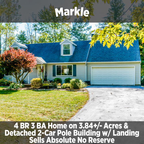 4 Bedroom 3 Bathroom Home on 3.84 +/- Acres in Markle, IN