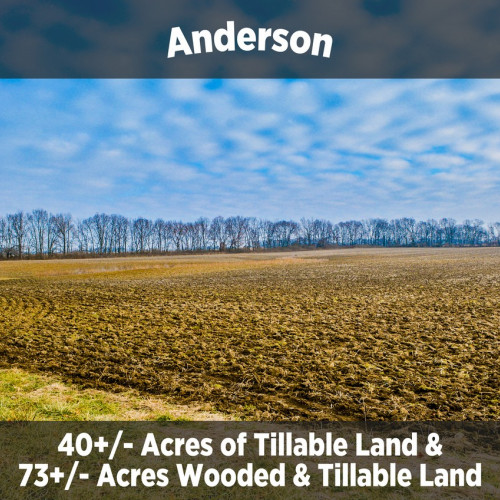 73+/- & 40 +/- Acres Land Auction in Anderson, IN