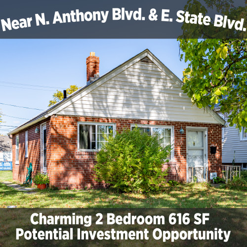 Charming 2 Bedroom 1 Bathroom Income Property Near N. Anthony Blvd. & E. State Blvd.