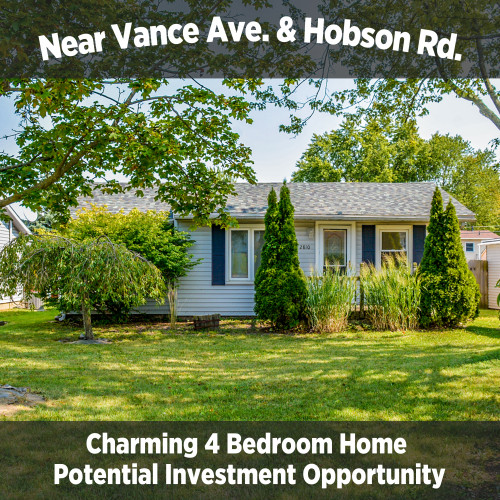 4 Bedroom Home Near Vance Ave. & Hobson Rd.