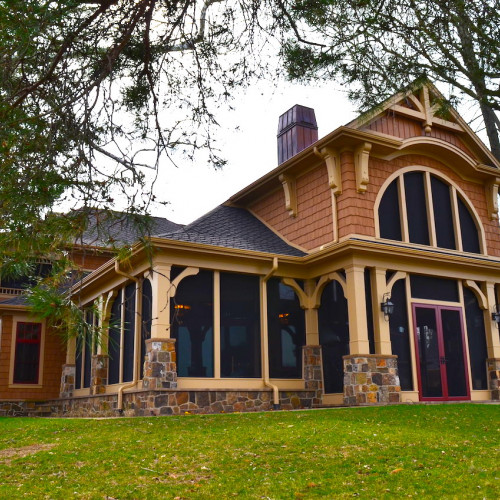 Beautiful 7000 sf home with almost 3 acres on Lake Wawasee