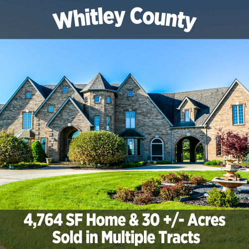 4,764 SF Home & 30 +/- Acres Sold in Multiple Tracts