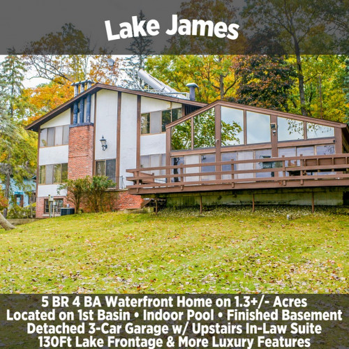 Lake James 5 BR 4 BA Waterfront Home on 1.3+/- Acres