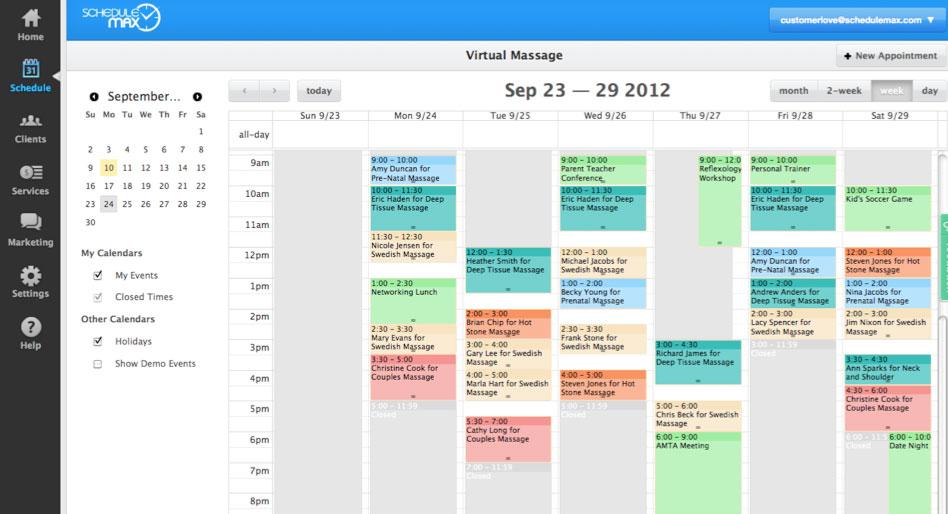 scheduling calendars free