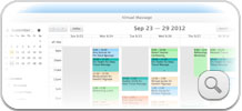 Online Calendar shows multiple users for business account.  Complete control of online booking process.