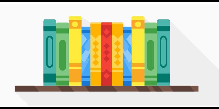 Books on rack