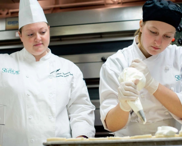 Makayla Baker, Culinary Arts intern with the Sagamore Resort, class of 2016