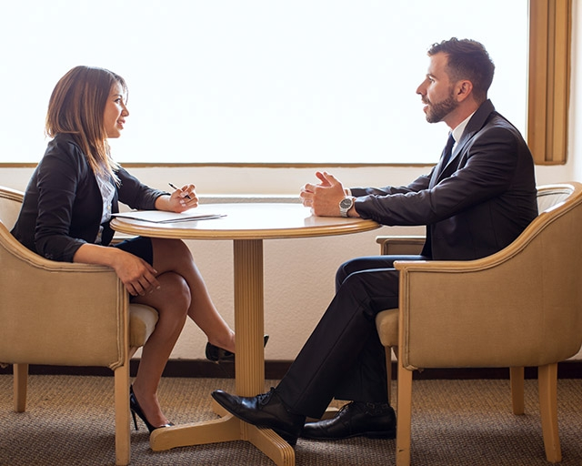 Candidates mastering the art of interviewing