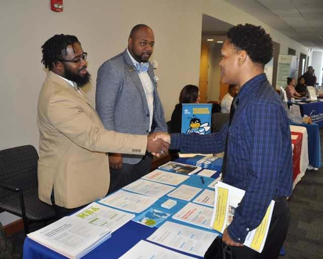 Coppin alum recruiting for UB at Career Exploration Day 2017