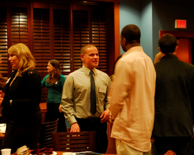 Attend a networking event to engage with business professionals
