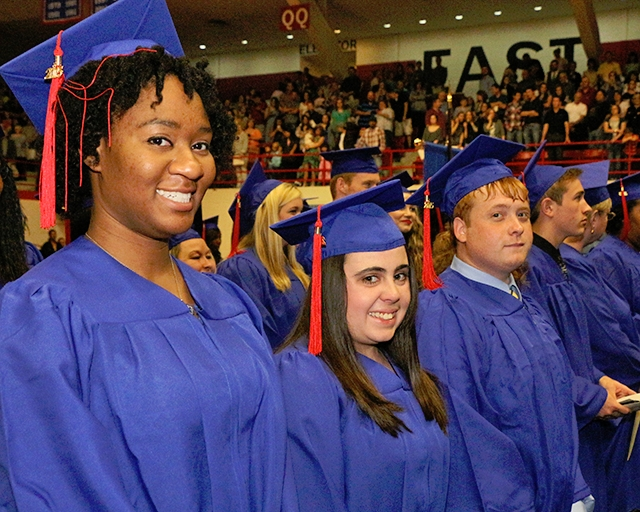 Students at the commencement ceremony