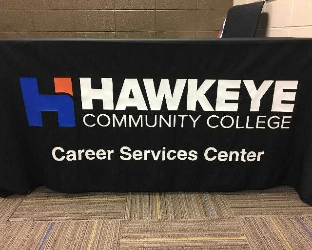 Hawkeye Community College Career Services Center banner.