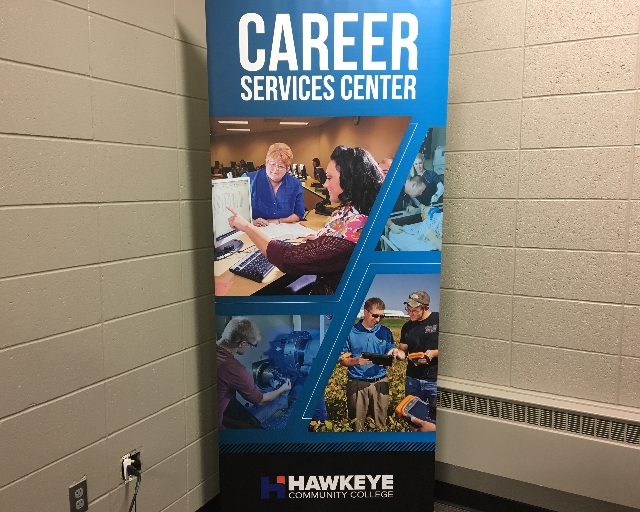 Hawkeye Community College Career Services Center banner