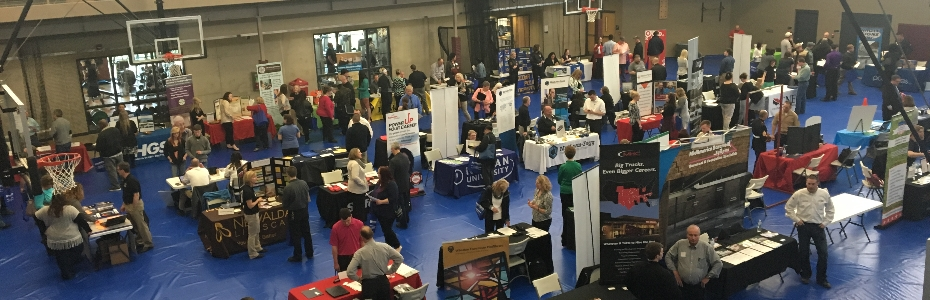 The Career Services Center hosts career fairs and hiring events on campus.