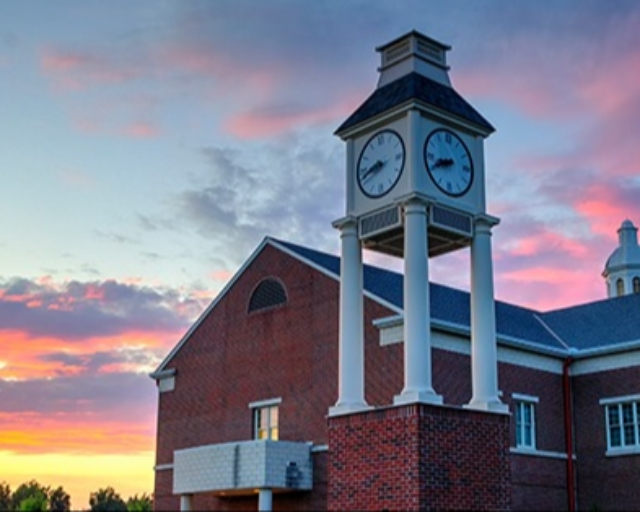 Pitt Community College: Clock Tower, Evening