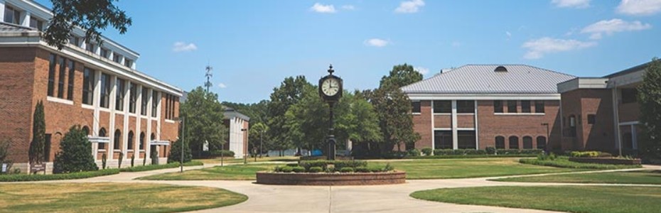 View of the college courtyard.