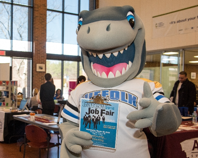 Suffolk Shark Mascot