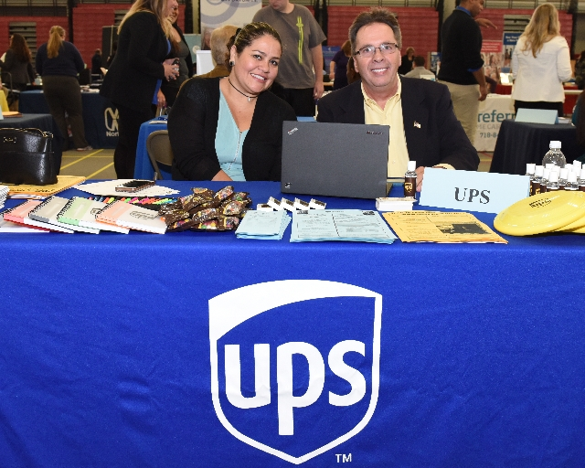 Photo of UPS at a Career Fair
